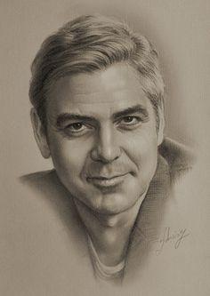 George Clooney by Polish Pencil Artist krzysztof20d (krzysztof łukasiewicz)