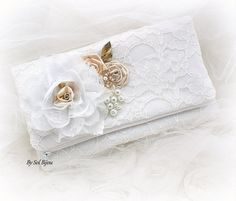Bridal Lace Clutch Handbag Bag Made of Honor Mother of by SolBijou