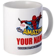 The Amazing Spider-man Personalized Mug  Vast selection of Spidey products