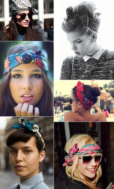 Bandana - hair scarf trend. Psh...! Black people have been wearing head scarves since BEFORE it was cool! I've worn most of these before the trend even started!