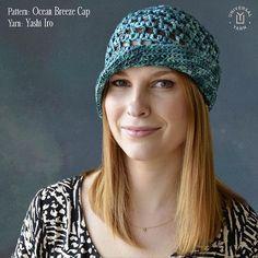 SnapWidget   Free Pattern Friday is the summery Ocean Breeze Cap crocheted in Yashi Iro raffia yarn. #crochet #yarn #hat #raffia #yashi #aqua #crochetersofinstagram