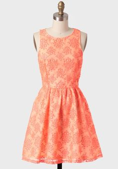 Dixie Floral Eyelet Dress In Orange from Ruche. Modern Vintage Dress, Vintage Dresses, Vintage Clothing, Grad Dresses, Cute Dresses, Wedding Dresses, Preppy Style, My Style, Sweet Style