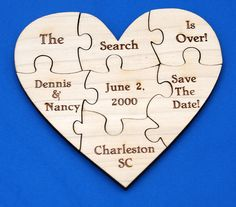 Adorable heart puzzle save the date!