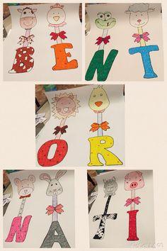 Lettere e animali da ritagliare bentornati per la scuola