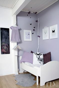 shades of lilac, love this color for girls room