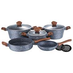 Set oale si tigai marmorate (10 piese) din aluminiu forjat Forest Line Berlinger Haus BH 1211 Sugar Bowl, Bowl Set, Jar, Jars, Glass