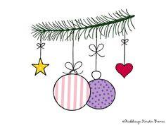 Christbaumkugeln Doodle Stickdatei. Christmas bauble appliqué embroidery file for embroidery machines.  #sticken #weihnachten #diy