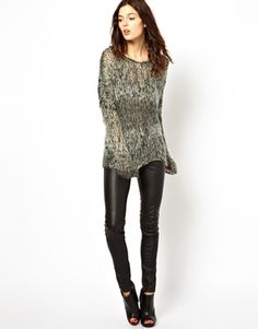 Image 4 of Muubaa Suede Lucena Knitted Pullover