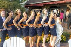 navy blue and burnt orange wedding