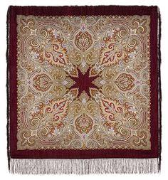 Фирменный шерстяной (100% шерсть) павлопосадский платок