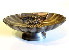 French Vintage Pewter Shell Shaped Soap
