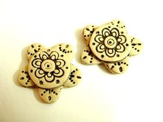 Craft set of Hand Made Polymer Clay Cabochons 2 ps by jewelryfimo, $4.50