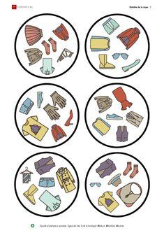 Dobble ropa 5/8 Speaking Games, English Lessons, English Grammar, Montessori, Spanish, Language, Student, Album, Teaching