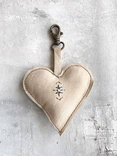 Leather heart-shaped...