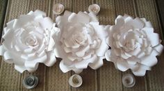 Giant Paper Roses Set of 6 by DreamEventsinPaper on Etsy $145.00  #Paperflowers #PaperFlowerBackdrop #paperflowerwall