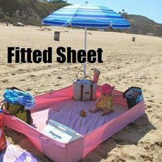 Fitted sheet to use at the beach! More