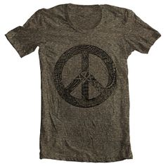 Men's T Shirt Peace Symbol Sign American Apparel Tshirt Tee Short Sleeve Unique… Funky Outfits, Unique Outfits, Tank Top Shirt, Tee Shirts, American Apparel, Shirt Mockup, Young Fashion, Cool Tees, Vintage Tops