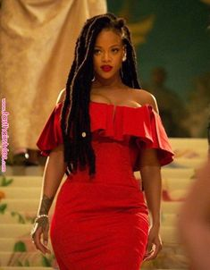 Dreads ocean's 8 RiHanna Rihanna Outfits, Rihanna Red Dress, Rihanna Red Carpet, Fenty Rihanna, Rihanna Mode, Rihanna Style, Rhianna Fashion, Best Of Rihanna, Looks Rihanna