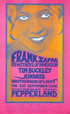 Frank Zappa and Tim Buckley in California, 1970 poster art.