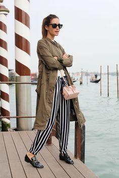 #GalaGonzalez #Venice #Stripes #Style