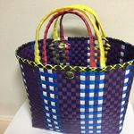 プラカゴ Basket Bag, Denim Bag, Minne, Wicker Baskets, Louis Vuitton Damier, Weaving, Handbags, Crochet, Table