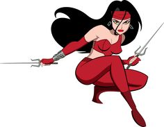 The Marvel Age of Comics, cooketimm: Elektra by Bruce Timm