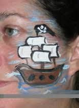 pirate cheek art