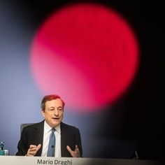 Press conference of the European Central Bank (EZB) in Frankfurt, Germany