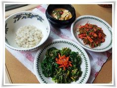 봄빛닮은 봄나물비빔밥 -냉이/시금치/어수리/유채/미나리무침 – 레시피 | Daum 요리