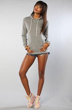 Alternative Apparel  The Hoodlum Pullover Hoodie in Eco Gray $50.00