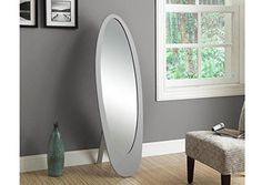 Monarch Contemporary Oval Cheval Mirror, Grey >>> Find out more about the great product at the image link.