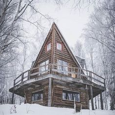 Sit back and get ready for some serious weekend inspiration, courtesy of our friends at The Cabin Chronicles Tiny Cabins, Tiny House Cabin, Log Cabin Homes, Cabins And Cottages, A Frame Cabin, A Frame House, Diy Home Security, Home Safety, Cozy Cottage