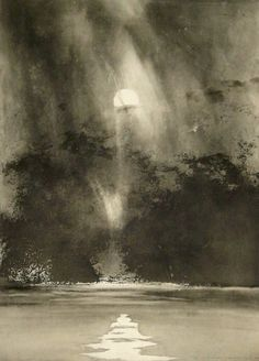 Norman Ackroyd aquatint
