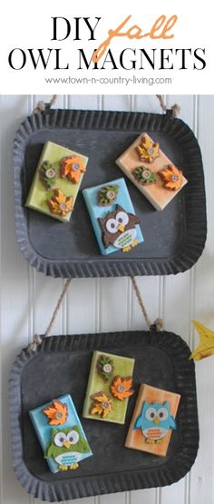These DIY Fall Owl Magnets are perfect to make with the kids and a lovely addition to your Autumn decor by Ella Claire.