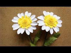 ABC TV   How To Make Daisy Paper Flower From A4 Paper - Craft Tutorial - YouTube