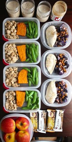 Healthy Snacks I know it's Tuesday and all, but this is my Meal Prep Monday post…since I was too. Continue Reading - I know it's Tuesday and all, but this is my Meal Prep Monday post…since I was too. Ways To Eat Healthy, Healthy Meal Prep, Healthy Dinner Recipes, Diet Recipes, Healthy Snacks, Healthy Eating, Cooking Recipes, Oats Recipes, Healthy Protein