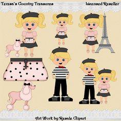 Miss #Paris with Blonde Hair #Clipart