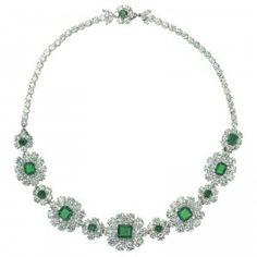 An Elegant Van Cleef & Arpels Emerald & Diamond Necklace