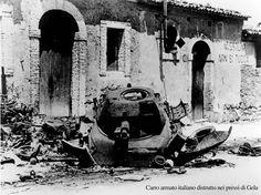 Gela 1943: resti di carro armato italiano