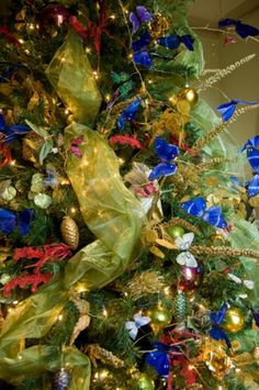 Chic Christmas 12 Blue Monarch Butterfly by TheFrenchSecret