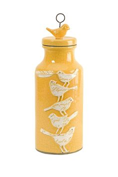Adelaide Small Scrip Birdy Jar with lid