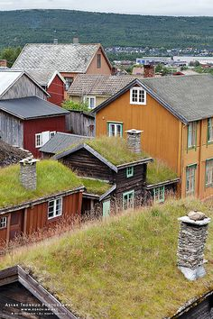 Rooftops of Røros Mining Town - Norway Beautiful Norway, Life Is Beautiful, Norway Sweden Finland, Holidays In Norway, Norway Viking, Scandinavian Countries, Visit Norway, Interesting Buildings, Fishing Villages