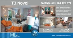 Apartamento Novo T3 no Montijo! Escolha se quer Ar Condicionado ou não. Marque já a sua visita: 961 125 671