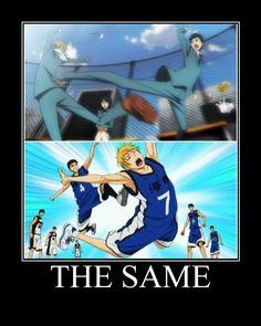 THE SAME!!! YES Durarara/Kuroko's Basketball