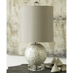Mini Capiz Shell Lamp by Regina Andrew.