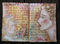 for the monthly challenge  http://art-journal-journey.blogspot.co.at/    theme: special moments