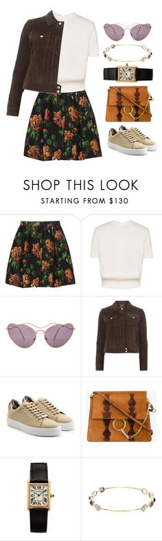 """///"" by lunaashton ❤ liked on Polyvore featuring Miu Miu, Dorothy Perkins, Burberry, Chloé, Cartier and Ippolita"