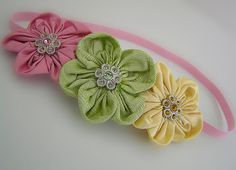 Baby Headband Vintage Inspired Headband by LittleDivaBoutique