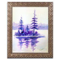 "Trademark Art 'Purple Island' by Wendra Framed Painting Print Size: 14"" H x 11"" W x 0.5"" D"
