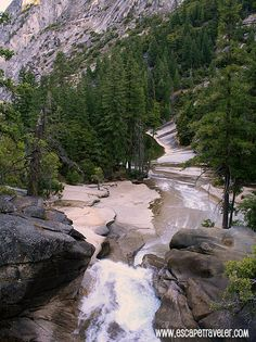 Upper Vernal Fall and the Emerald Pool,  Yosemite Mist Trails  http://www.escapetraveler.com/hiking-half-dome-yosemite-what-you-need-to-know/